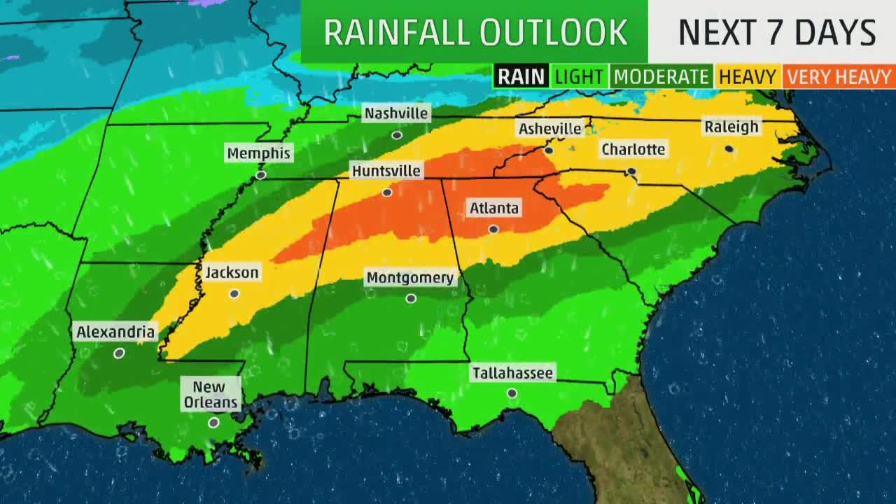 Days and Days of Rain for Already Soaked South