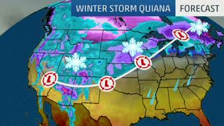 Winter Storm Quiana Moves into the West