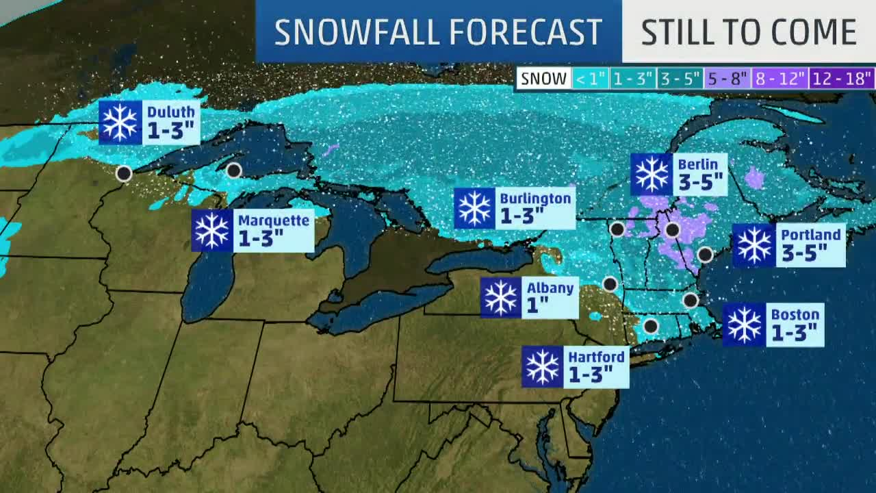Winter Storm Petra Brings Snow, Ice to New England