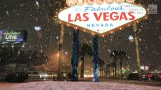 Vegas' First Accumulating Snow in Over 10 Years