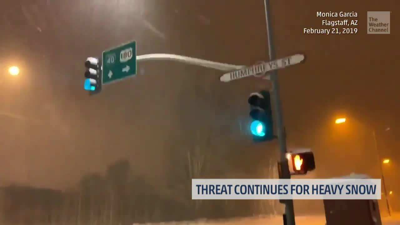 Winter Storm Quiana Brings Snow to Las Vegas, Schools Close in Arizona