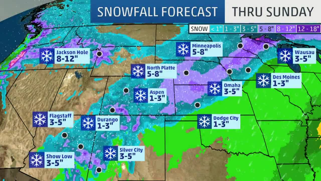 Quiana Moving East After Hammering Southwest with Record-Breaking Snow