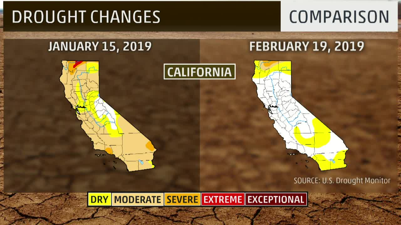 Drought Reduces Dramatically in West
