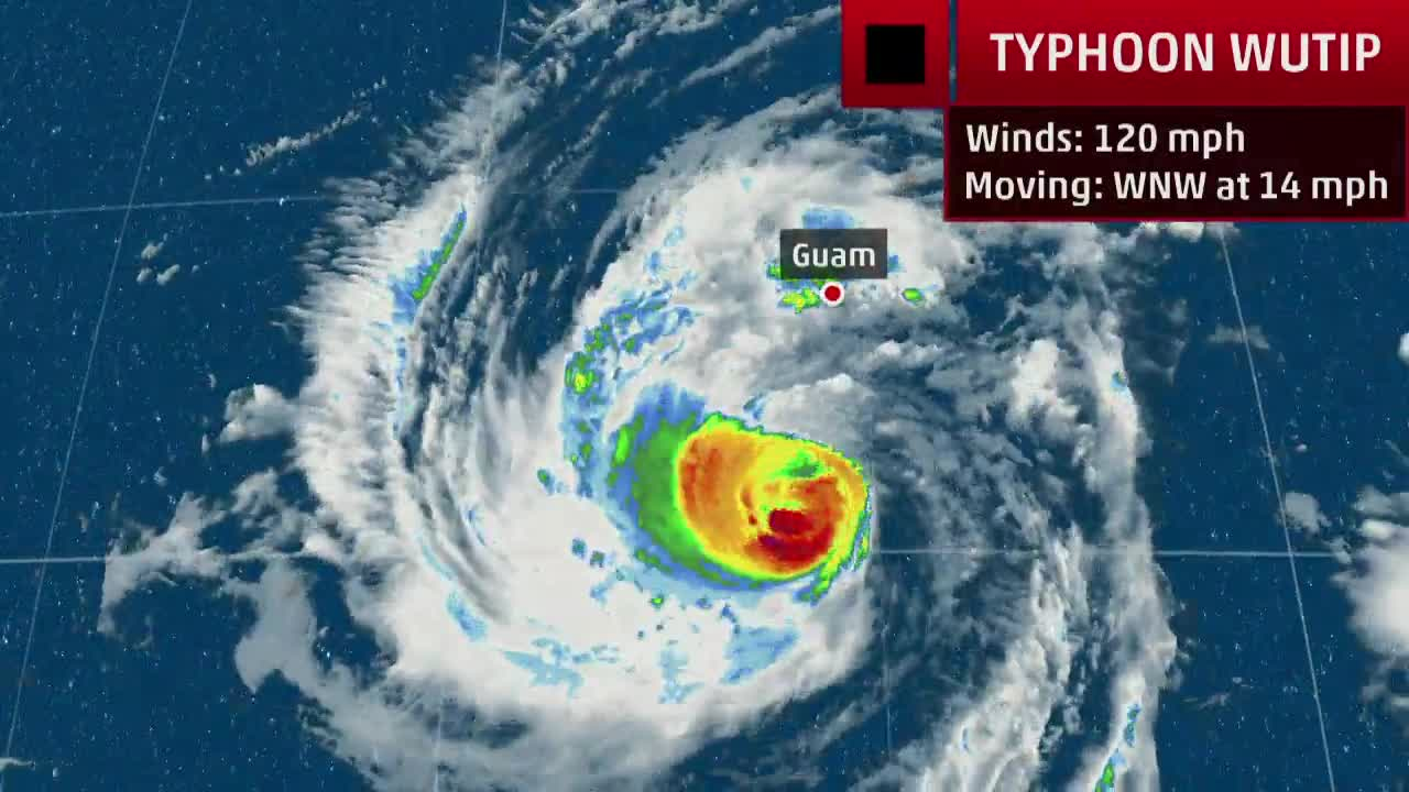 Guam Expected to Be Impacted by Typhoon Wutip