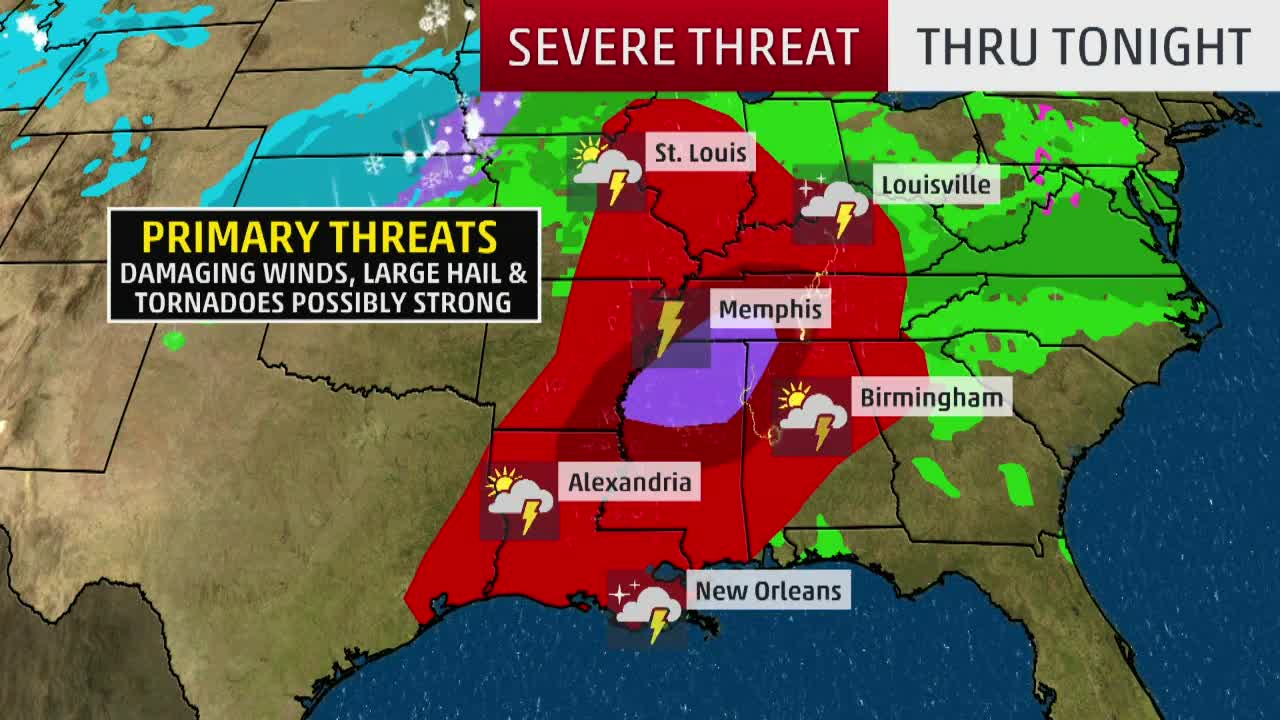 Dangerous Severe Weather Ramping Up in South
