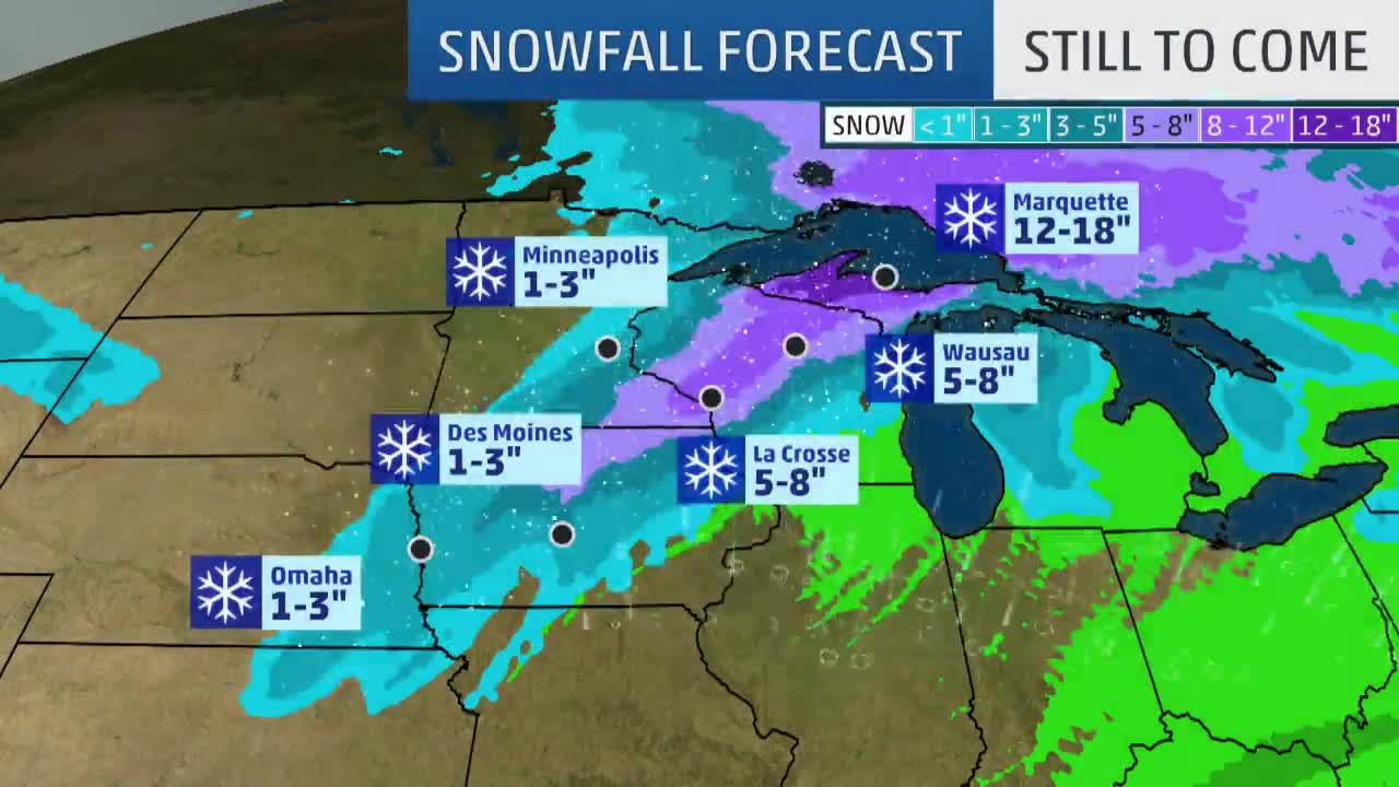 Winter Storm Quiana Brings Dangerous Blizzard Conditions To The Midwest