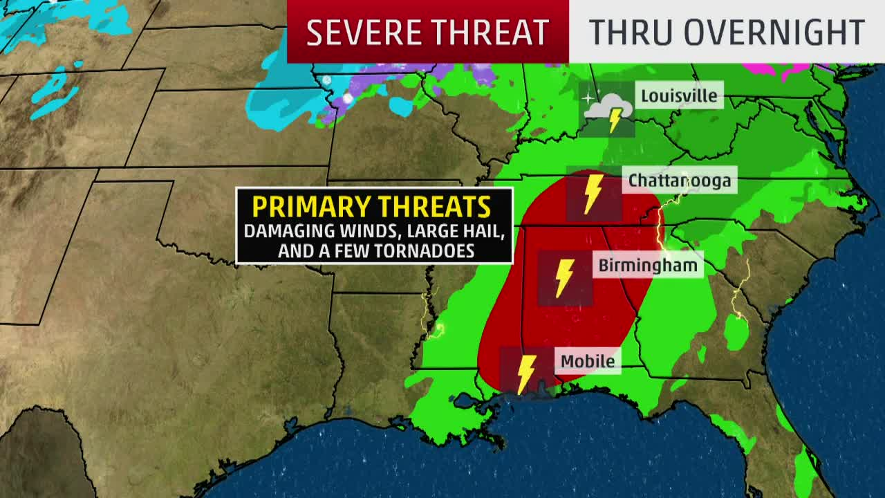 Severe Threat Continues For The South