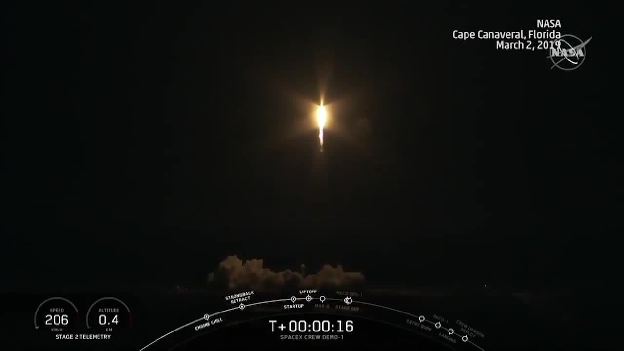 SpaceX Launches First Test of Vehicle to Send Passengers into Space