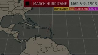 there was once a march atlantic hurricane