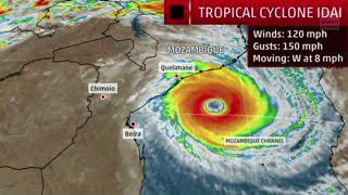 Tropical Cyclone Idai Landfalling Today in Mozambique