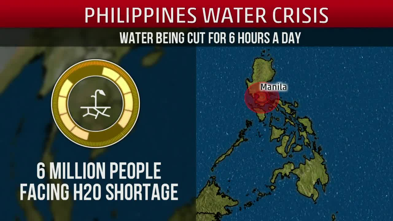 Long Lines for Water in the Philippines