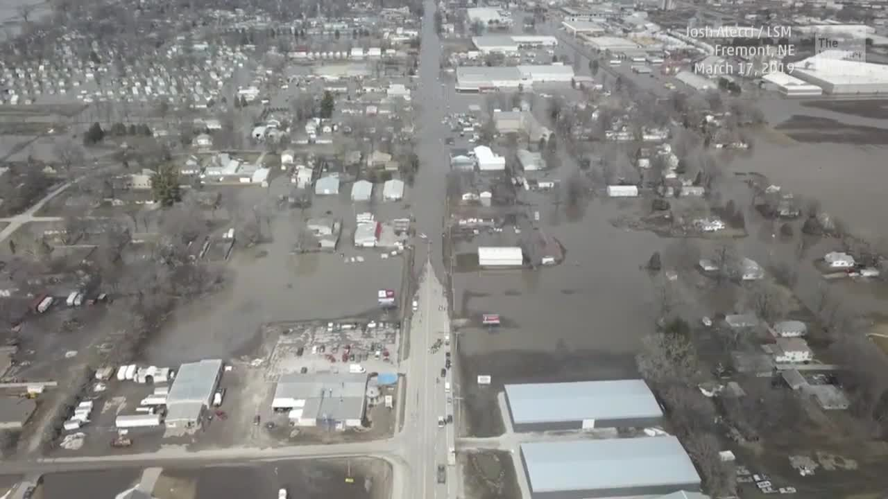 Aerial Footage Shows the Extent of Damage in Nebraska Flooding