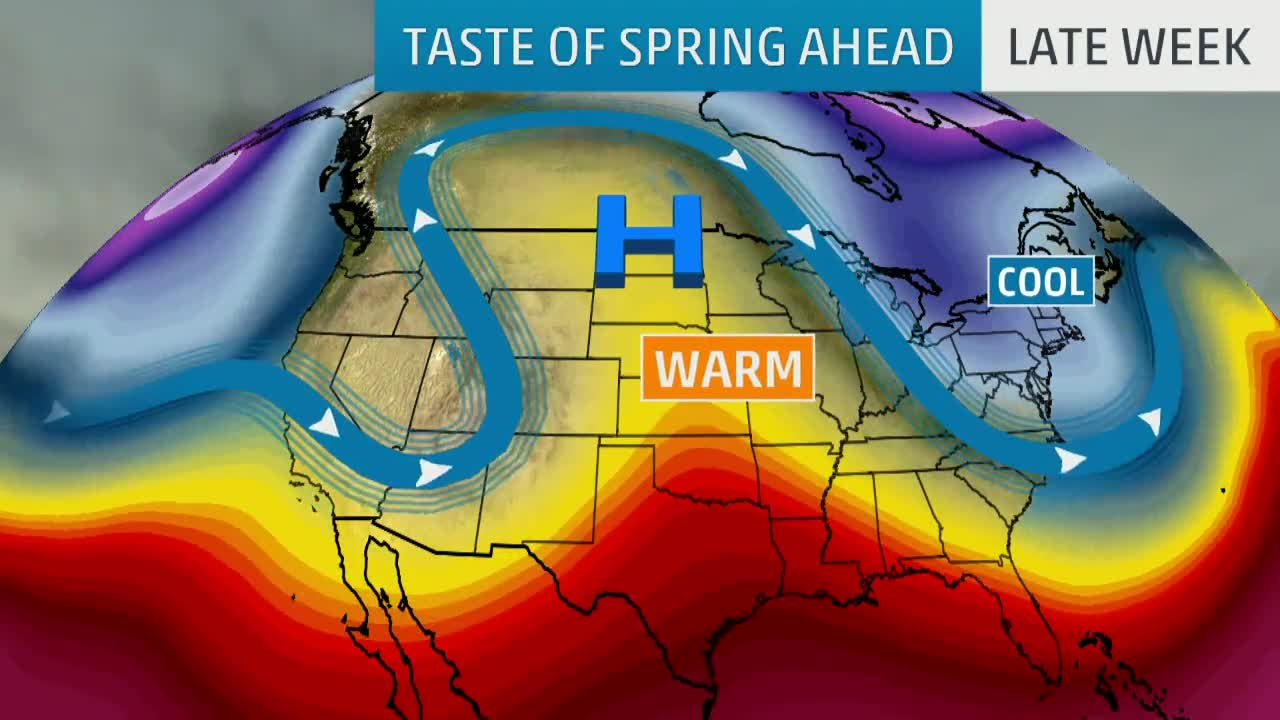 Pattern Change to Bring Taste of Spring to Upper Midwest