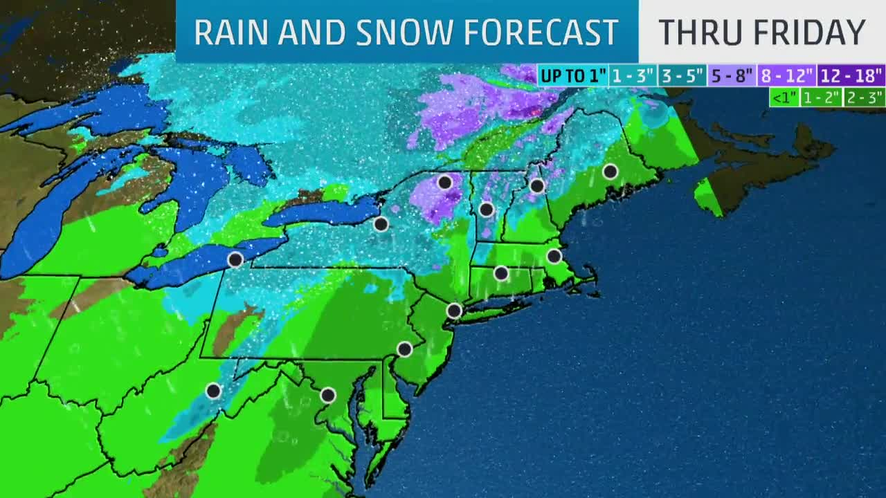Atlantic Coastal Storm to Bring Rain and Snow to End Week