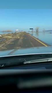 Interstate in Iowa Flooded