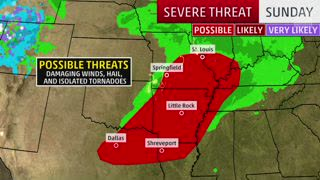 Who Could See Severe Storms the Next Couple of Days?