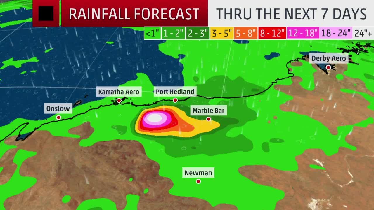 Tropical Systems Bringing Heavy Rain to Australia