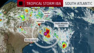 Rare Tropical Storm Iba in the South Atlantic