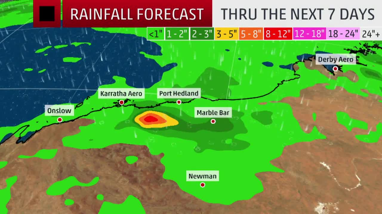 Veronica Bringing Heavy Rain to Western Australia