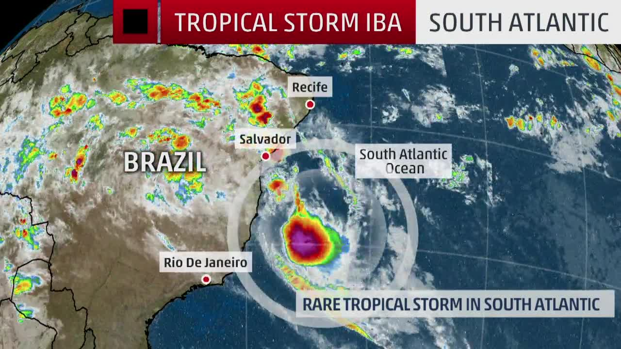 Tropical Storm Iba Rare for South Atlantic