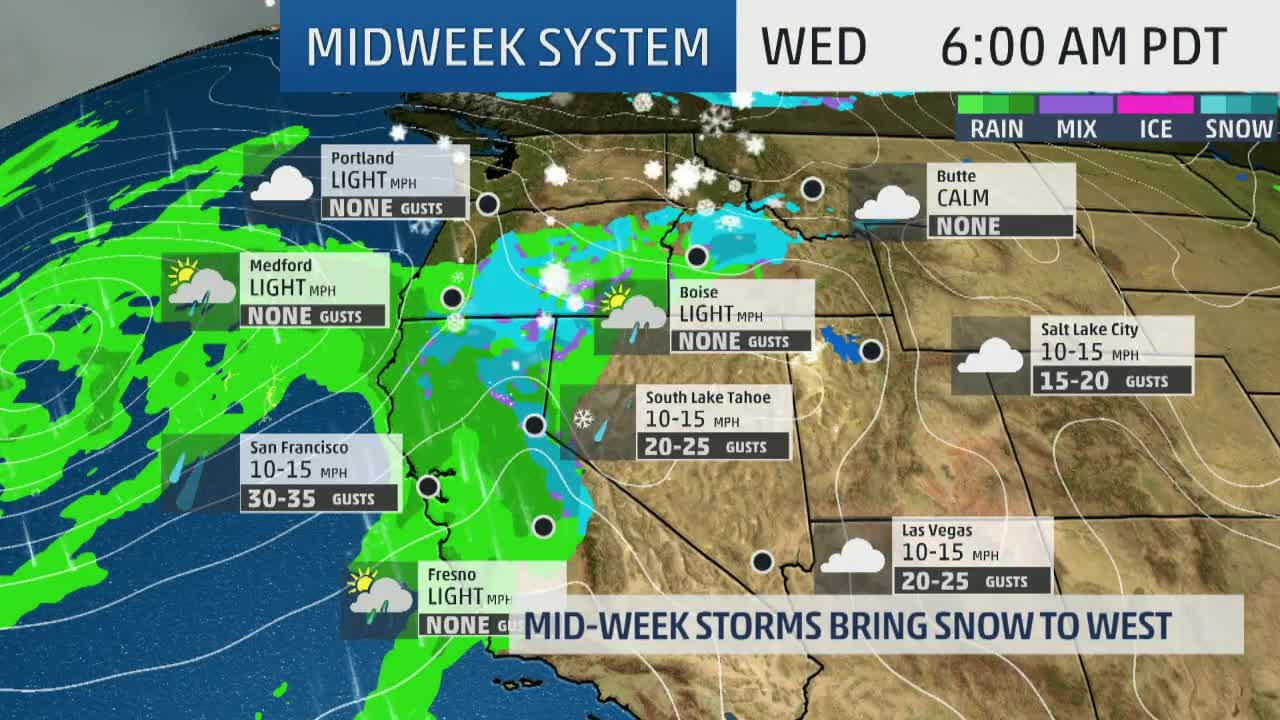 Late Week Storm to Bring Snow, Rain and Thunderstorms From West to Plains