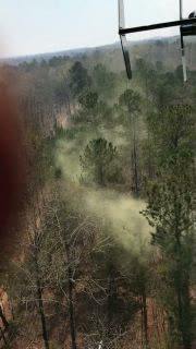 Helicopter Stirs up Pollen in Georgia