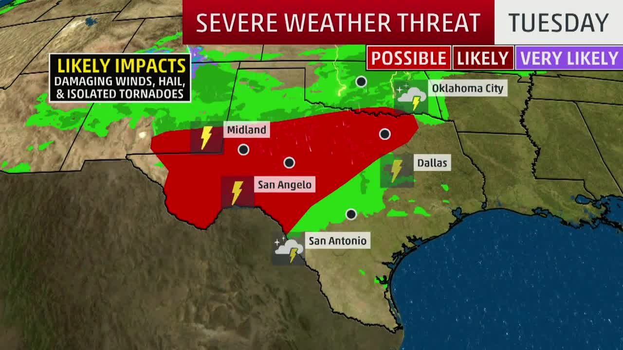 Heavy Rainfall, Flooding and Thunderstorms Will Return to the Southern Plains