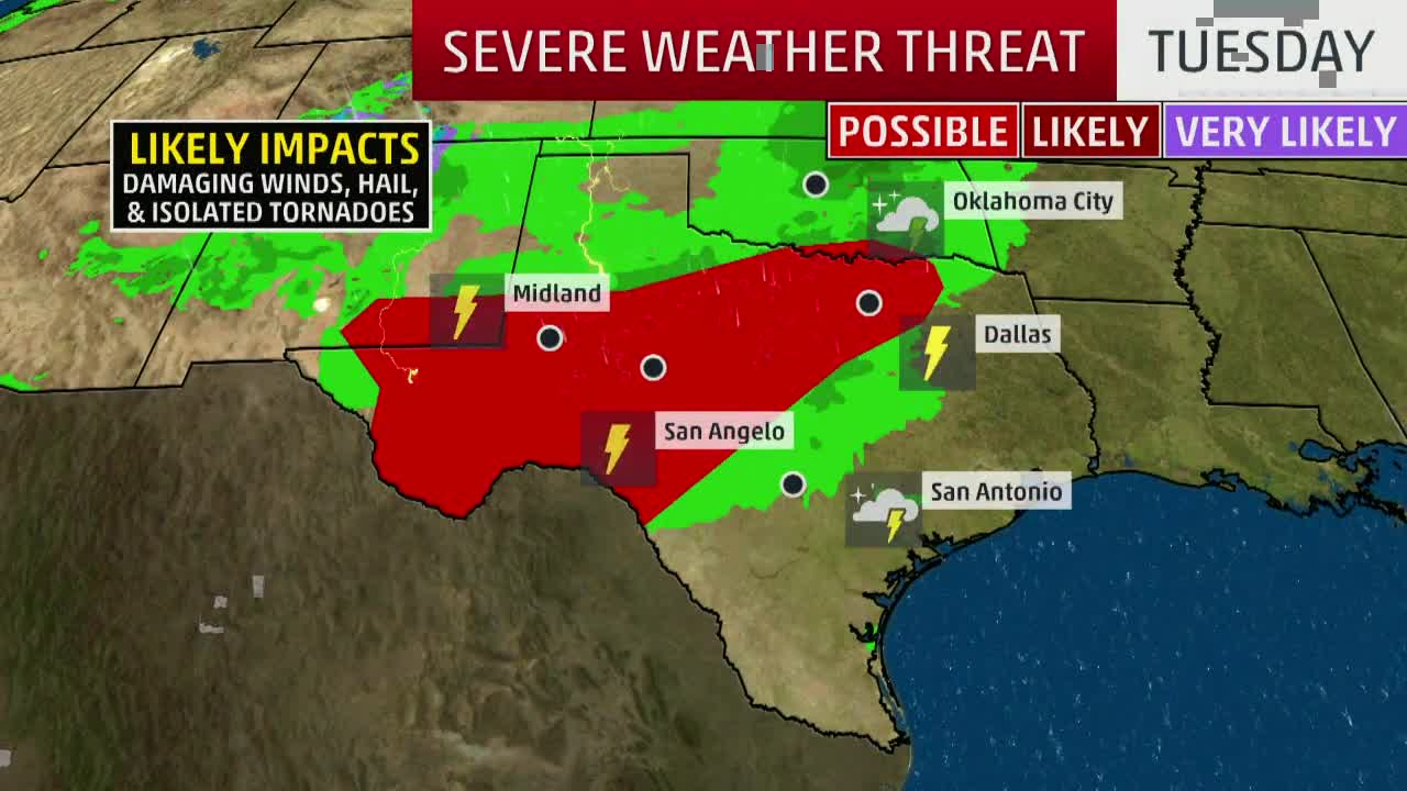More Flooding, Thunderstorm Potential for Texas