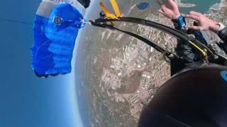 Wingsuit Pilot Spins in Air as Parachute Gets Tangled