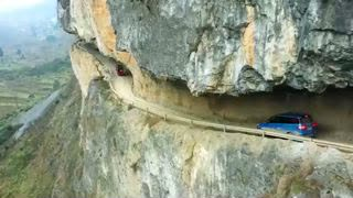 Cliffside Tunnel in China's Guizhou Makes a Nerve-wracking Drive