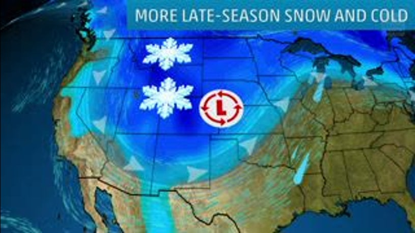 Cold Chill Grips Rockies to Upper Midwest