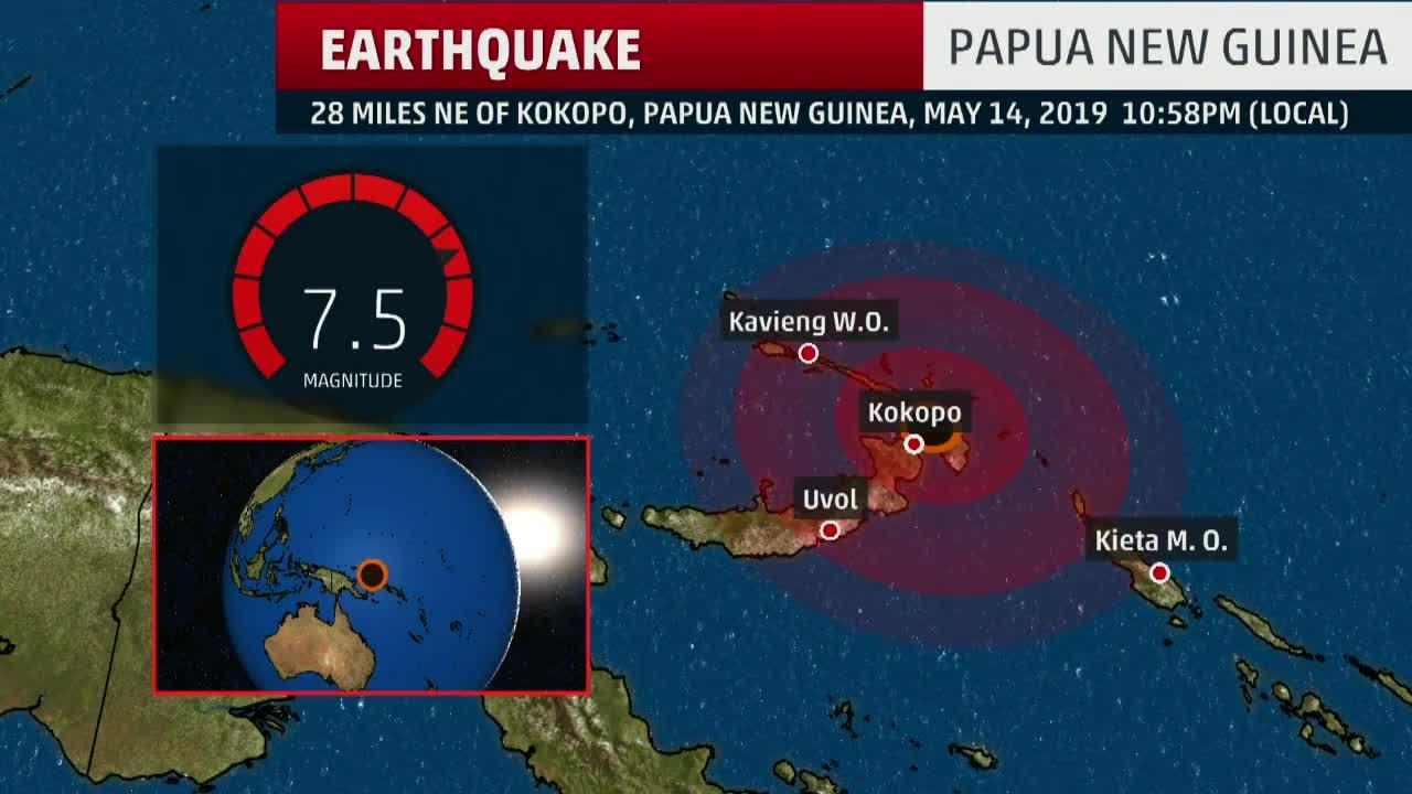 powerful 7 5 earthquake hits in papua new guinea