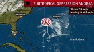 subtropical depression andrea to quickly fizzle in the