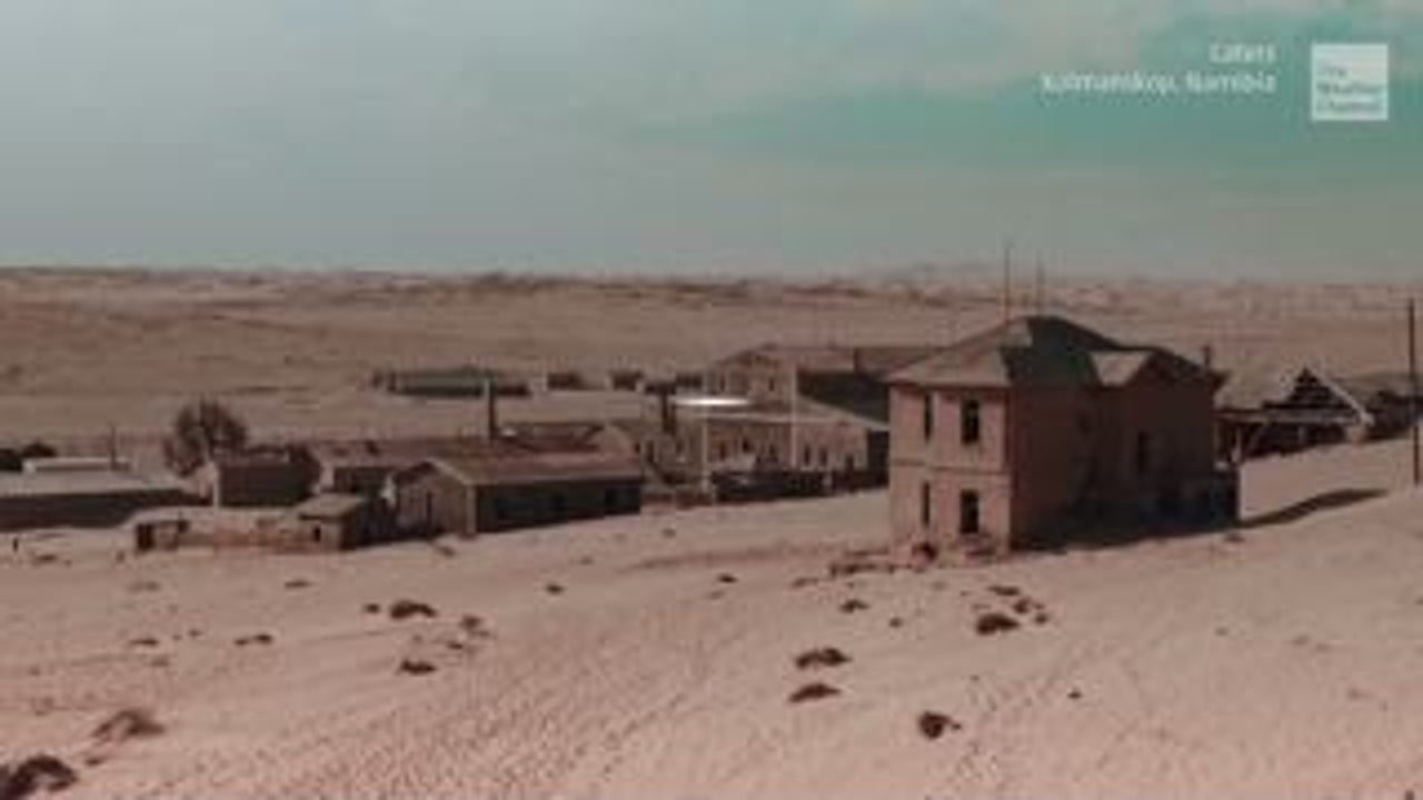 Eerie Ghost Town Sinking into the Desert