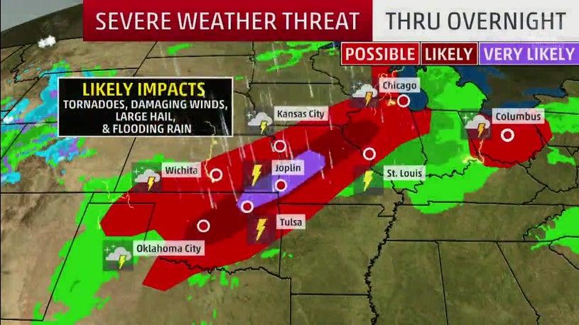 Three Killed in Missouri Tornadoes