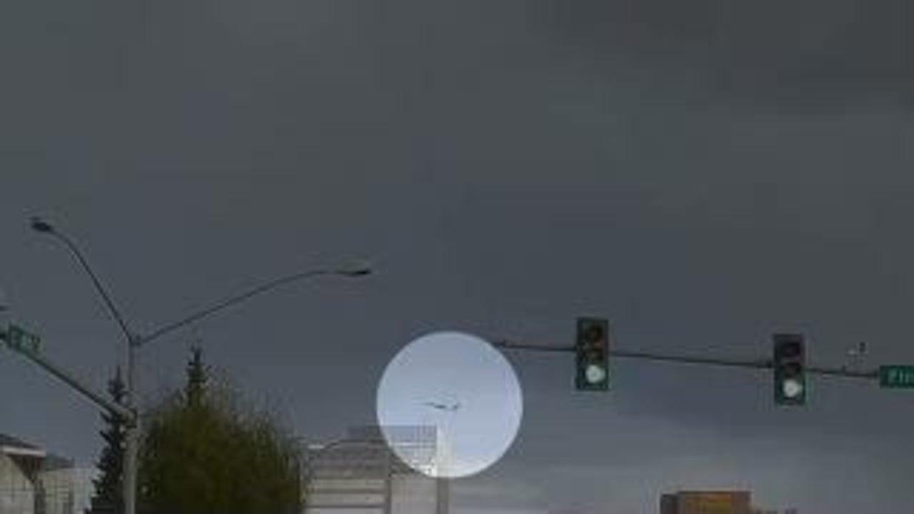 Dashcam Captures Dramatic Lightning Strike