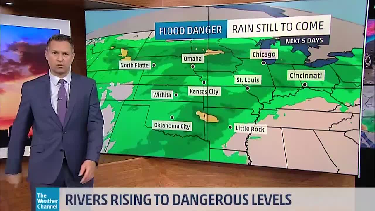 More Rain in Forecast for Already Hard Hit Flooding Areas in the Midwest