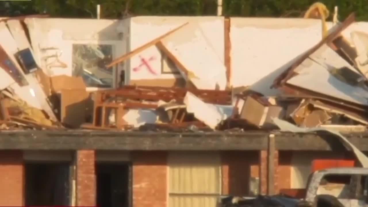 Buildings Destroyed by Tornado in El Reno, Oklahoma