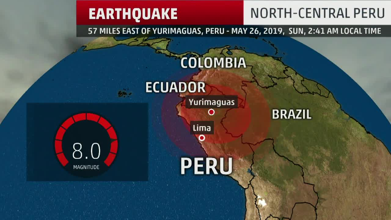 Powerful 8.0 Magnitude Earthquake Shakes Peru
