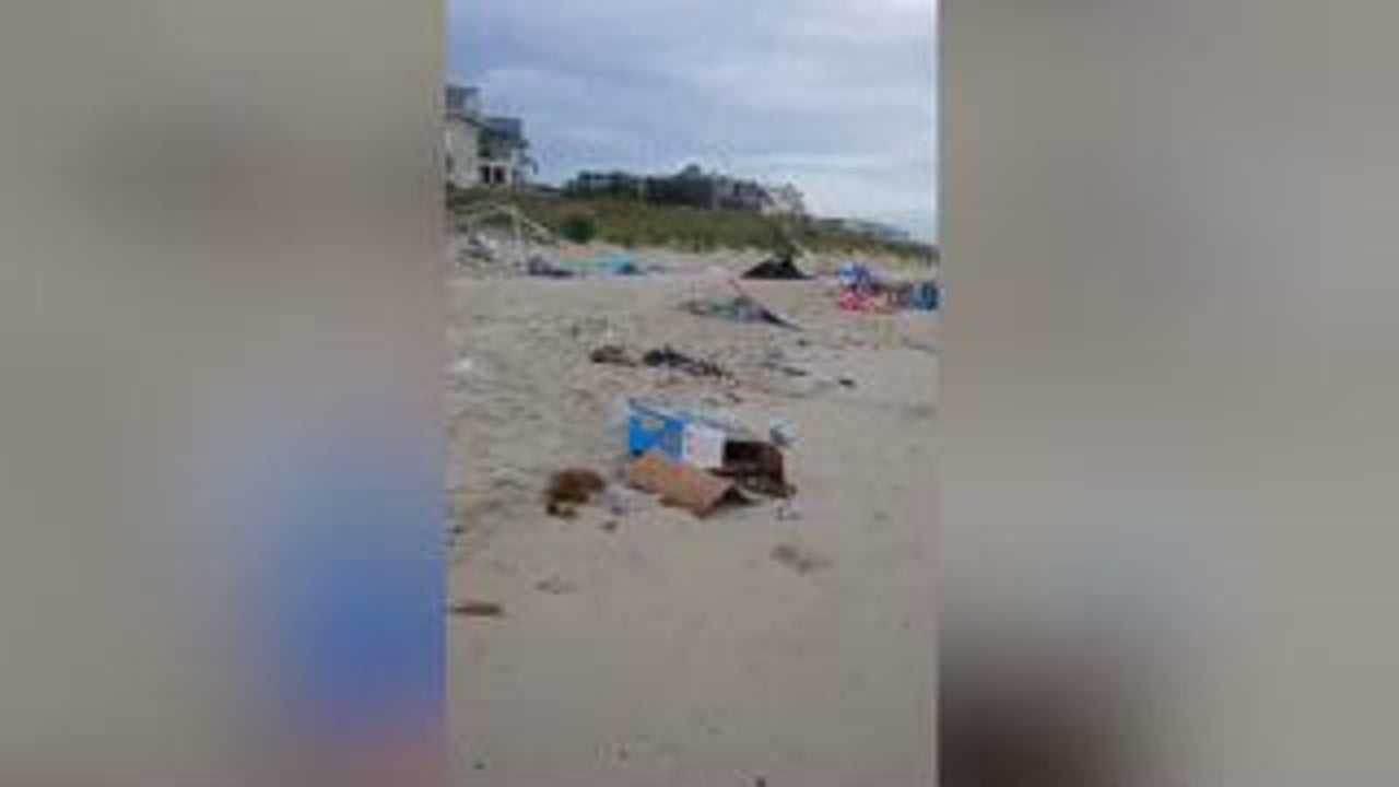 Beach Trashed During Boozy Bash