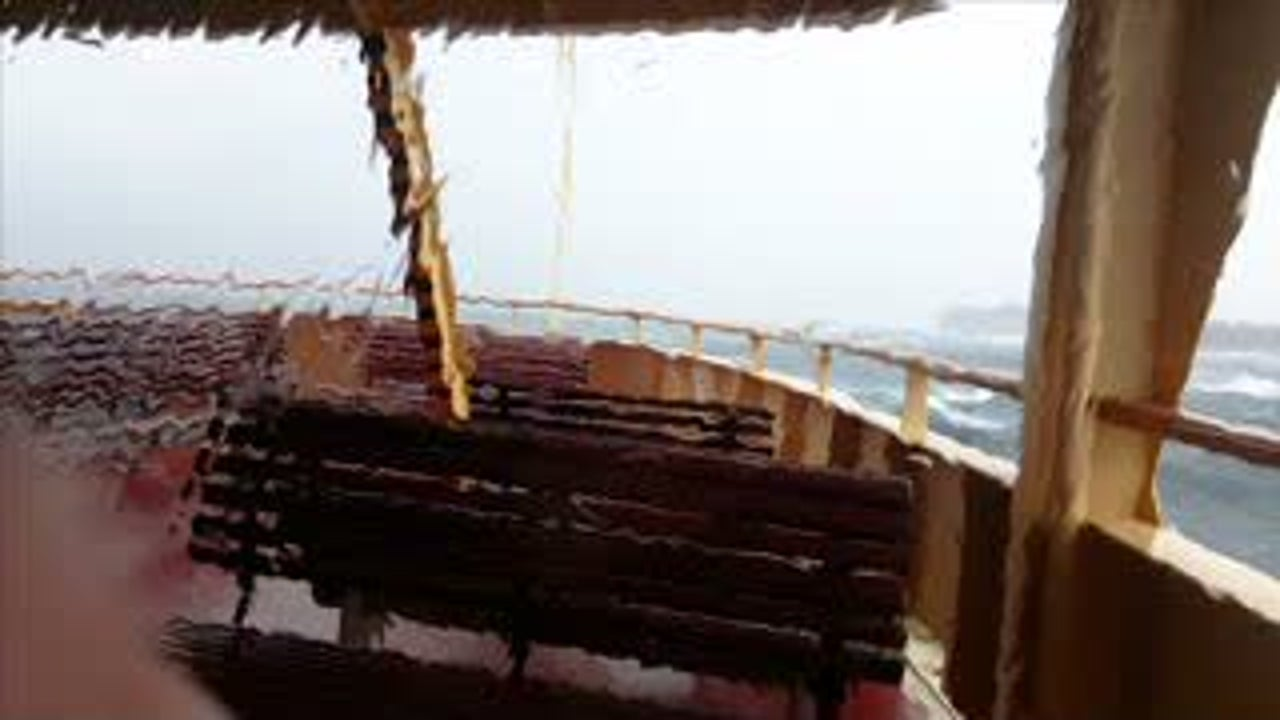 Huge Waves Turn Ferry into Roller Coaster