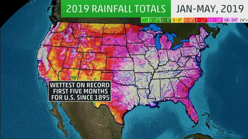Wettest First Five Months in U.S. Recorded History