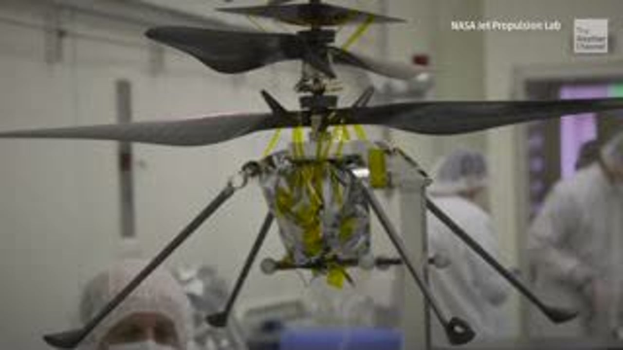 NASA's first Mars helicopter is in its final testing phase before it launches with the Mars 2020 rover mission. The small chopper will soar above the Red Planet while the rover on land looks for signs of past life.