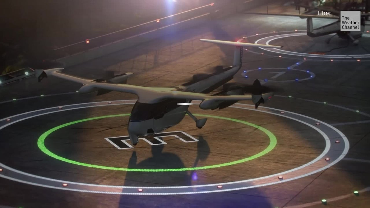 "Uber recently unveiled its flying taxis dubbed ""Uber Air"" that can transport up to four people at a time. The company says the rides are expected to be cheaper than a typical helicopter trip."
