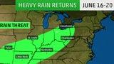 Nueva ronda de lluvias en la mitad del país
