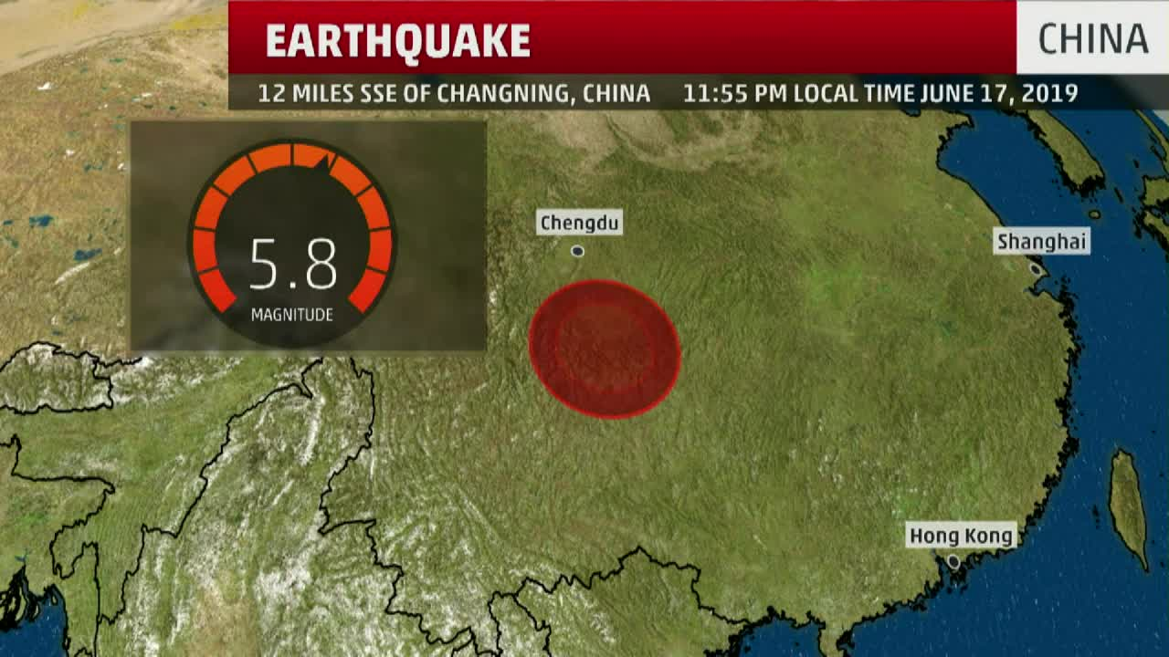 Deadly 5.8 Magnitude Earthquake Shakes Southern China