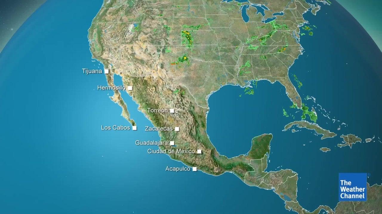 Lluvias con actividad eléctrica en varias partes de México