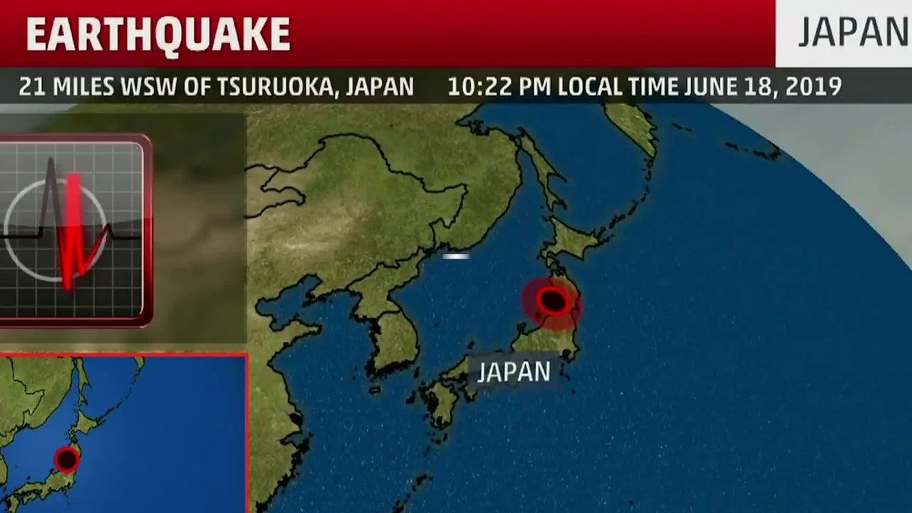 Terremoto de magnitud 6.4 sacude Japón