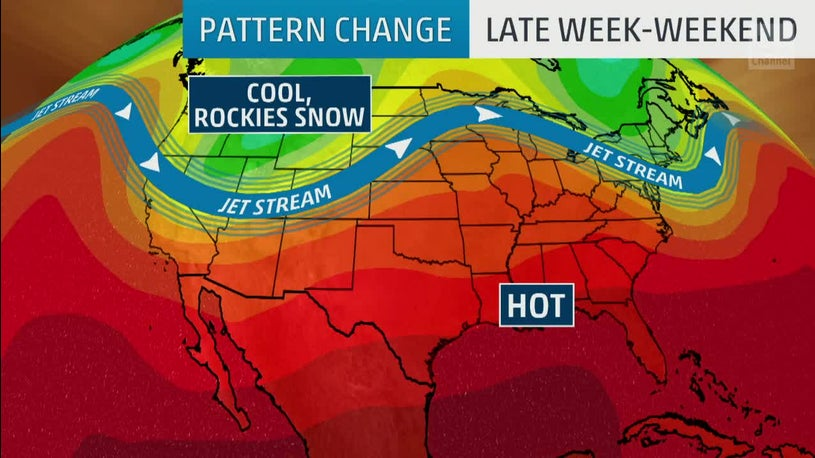 Pattern Change Bringing Potential Snow to the Rockies and Heat in the South