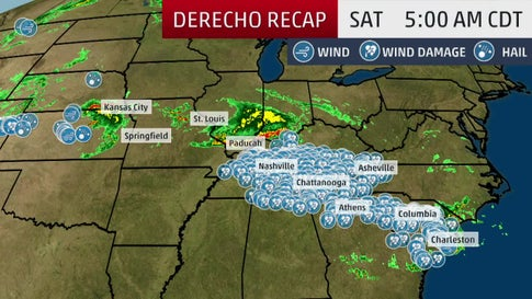 Derecho Produces More than a Thousand Miles of Damage
